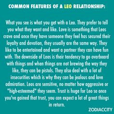 Leo's in a relationship...