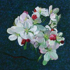 "Daily Paintworks - ""Cherry blossom"" - Original Fine Art for Sale - © Setsuko Lawson"