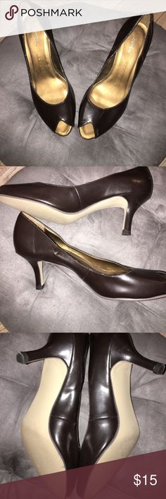 Xappeal dark brown heels 👠 Size 9, good condition hardly used worn a few times. Dark brown color with an open toe. Xappeal Shoes Heels