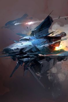Concept ships by Jcircle. Keywords: digital tablet spaceship illustrations art design by professional concept artist jong wo.
