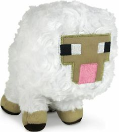 """This is the Minecraft Baby Sheep plush figure. What's cuter than a stuffed sheep? How about a baby stuffed sheep! This Minecraft Baby Sheep plush figure falls into that category of """"just plain adorabl Plush Dolls, Doll Toys, Pet Toys, Baby Toys, Minecraft Sheep, Minecraft Baby, Minecraft Stuff, Minecraft Bedroom, Minecraft Secrets"""