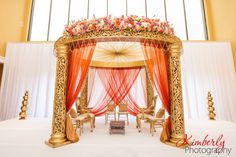 Innisbrook Resort Tarpon Springs, Suhaag Garden, California Indian Wedding Decorator, Florida Indian Wedding Decorator, Decoration Vendors, Mandap, Gujurati Wedding, White and Gold, Gold Jali Mandap