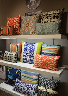 Love the zebra stripes. The muses love to mix it up: Elaine Smith delivers the definitive pattern playbook for 2013 pillows