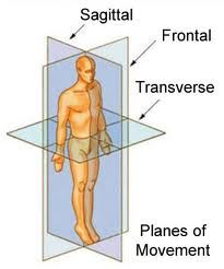 Training in all planes - sagittal plane, frontal plane, transverse plane.