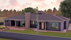 4 Bedroom House Plan – My Building Plans South Africa My Building, Building Plans, 5 Bedroom House Plans, Open Plan, Master Suite, Outdoor Structures, South Africa, Mlb, How To Plan