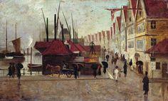 Frederik Collett The Quay in Bergen, 1875 Bergen, Inspire, Artists, Fine Art, Painting, Image, Art, Paintings, Draw