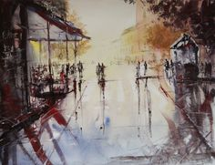 Paris watercolor by nicolasjolly.deviantart.com on @deviantART