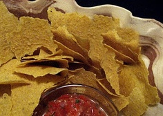 Raw chips and salsa