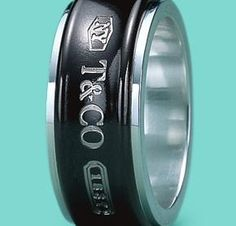 Tiffany Co Men's ring Sterling silver and Titanium! only £175 on www.hardlyeverwornit.com