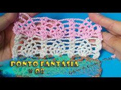 Ponto fantasia de Crochê #08 - YouTube