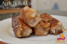 4 ingredients  Apple Pie Roll Ups!!