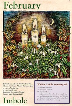 Imbolc~Blessed be the earth, and all who dwell upon it. We give thanks for the season now departing from us, For the blessings it has bestowed upon us, And upon those with whom we share this world.  Blessed be the new season. We pray that it will be a time filled with peace, With abundance, with prosperity, With wisdom, With love. Blessed be all who share this feast. Let us now prepare for the time ahead By opening our hearts, and our minds, and our spirits. Blessed be.