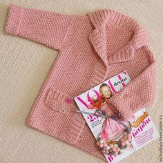 Купить Пальто вязаное детское - бледно-розовый, пальто вязаное, детская одежда, детское пальто