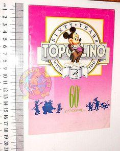 TOPOLINO-60-anniversario-1988-italy-sticker-book-album-figurine-completo Sticker Books, Album, Stickers, Disney, Ebay, Figurine, Sticker, Decal, Disney Art