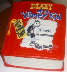 diary of a wimpy kid birthday cake. If that was in front of me I would  go crazy.