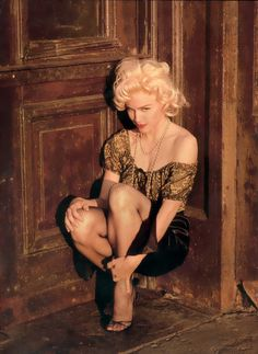 Madonna for Vanity Fair, April 1991 by Steven Meisel (she copies most famous poses of Marilyn Monroe)