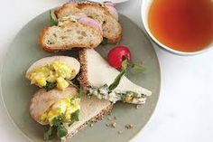 "Tea Sandwiches - These three recipes will make the most adorable, and yummy, sandwiches for your tea service. They are just as good if you ""up-size"" them to a regular sandwich for lunch in stead. If you're expecting a large crowd, you can easily double the recipes."
