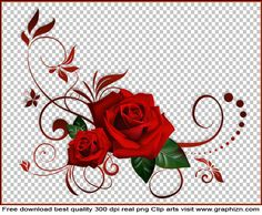 Red Roses Floral Decoration Clipart