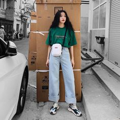 Pin on Style Boyish Outfits, Kpop Outfits, Mode Outfits, Retro Outfits, Teen Fashion Outfits, Cute Fashion, Look Fashion, Trendy Outfits, Trendy Fashion