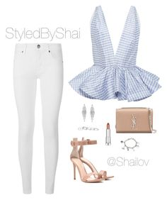 """""""Solid*"""" by slimb ❤ liked on Polyvore featuring Leal Daccarett, Burberry, Gianvito Rossi, Yves Saint Laurent, Humble Chic, Maybelline, Marvel, Kendra Scott and StyledByShai"""