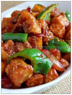 Echo's Kitchen: Chilli Paneer (Sweet And Sour Cottage Cheese)