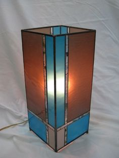Contemporary Column Style Stained Glass Accent by RenaissanceGlass,
