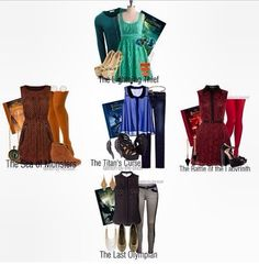 Outfits from the books from Percy Jackson!! So cute!!