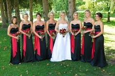 Red white black wedding ideas.