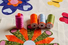 """Loving this recommendation and #aurilove from Felicia Brenoe from Felicia's World ...and looooving her photos  """"I love using #Aurifil Mako 50 for machine appliqué because the stitches lie flat, the thread practically never breaks in the machine, and there are gazillions of colors to choose from.""""  To see more please visit http://www.feliciasworld.com/about-thread/"""