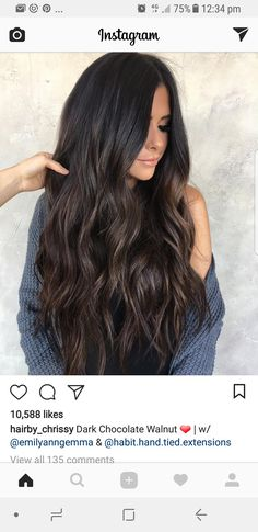 Dark Mocha Hair Extensions with Clip-In Function - .-Dunkle Mokka-Haarverlängerungen mit Clip-In-Funktion – mit R… Dark mocha hair extensions with clip-in function – 200 gram set with Remy hair extensions with clip-in function - Extensions Ombre, Clip In Hair Extensions, Dark Brown Hair Extensions, Extensions Shop, Hair Color For Black Hair, Brown Hair Colors, Blonde Babys, Cabello Color Chocolate, Luxy Hair