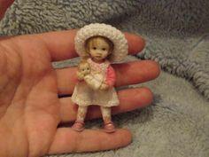 Miniature handmade MINI GIRL TODDLER CHILD ooak DOLLHOUSE ART DOLL HOUSE ARTIST