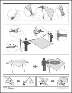 TYTHEdesign - TARPguide, a one-page guide for emergency shelters.