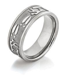 Deer Antler & Sheds Ring, Camo Rings Titanium Wedding Rings, Celtic Wedding Rings, Titanium Rings, Wedding Bands, Wedding Things, Wedding Stuff, Deer Antler Wedding Band, Hunting Wedding Rings, Floral Engagement Ring