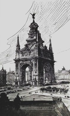 Otto Rieth, proposed triumphal arch in Berlin (?), c. 1891