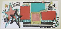 cricut scrapbook layout pages   Two Page Scrapbook Layout Pages School Chalk It Up #cricut #ctmh # ...