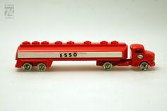 Vintage LEGO 1/87 H0: Mercedes Truck w/ trailer ¨ESSO¨ / Transport Lastwagen LKW | eBay