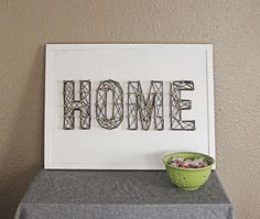 Yarn typography - great for adding texture!interesting