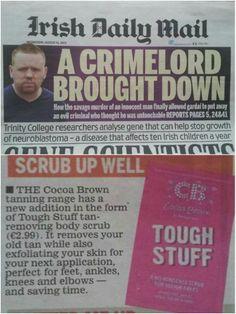 Irish Daily Mail, August 14th 2013