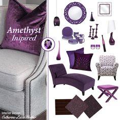 Amethyst inspired home decor. Carpet One floors.