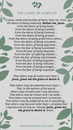 Smart image with litany of humility printable