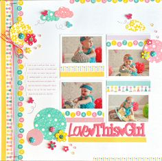 Love This Girl - Scrapbook.com - Made with the new and soon  to be available Queen and Company products.