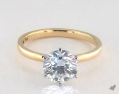 This 14k white gold 2mm comfort fit solitaire engagement ring (six prong) is available exclusively from JamesAllen.com