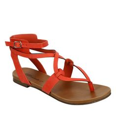 ffdb985556a026 Papaya Capri Sandal  zulilyfinds Gladiator Sandals