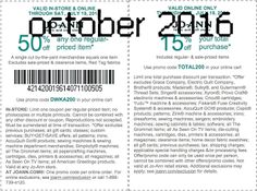 Joann Coupons Ends of Coupon Promo Codes MAY 2020 ! Retailer JOANN for In her including the it's nation's Cleveland hands states stor. Free Printable Coupons, Free Printables, Dollar General Couponing, Coupons For Boyfriend, Coupon Stockpile, Love Coupons, Grocery Coupons, Extreme Couponing, Coupon Organization