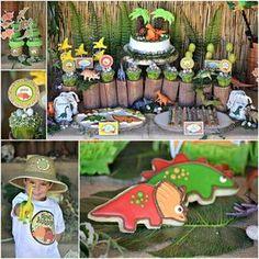 "Photo 1 of 32: Dinosaurs / Birthday ""Dino Fun!""   Catch My Party"