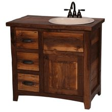 Website Photo Gallery Examples Our unique reclaimed wood and walnut bathroom vanity All American made http