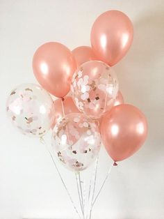 Welcome to Oh How Charming! What makes Oh How Charming confetti balloons so special?! Each confetti balloon is hand pressed to order by myself at my in house studio in Florida! • This listing is for (1) Pack of Signature Party Balloons. Each pack has (6) rose gold and (3) clear