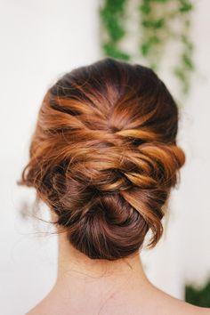 Beautiful bridal hair: http://www.stylemepretty.com/little-black-book-blog/2015/04/22/peach-rustic-boho-wedding-inspiration/ | Photography: Maraluce - http://www.maraluce.com/
