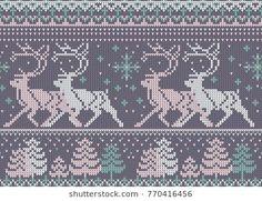 New Crochet Socks Christmas Knitting Patterns Ideas Knitted Mittens Pattern, Fair Isle Knitting Patterns, Christmas Knitting Patterns, Crochet Socks, Sweater Knitting Patterns, Knitting Charts, Crochet Stitches For Blankets, Crochet Blanket Patterns, Knitted Blankets