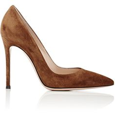 Gianvito Rossi Women's Gianvito Pumps (11,910 MXN) ❤ liked on Polyvore featuring shoes, pumps, heels, brown, suede pumps, stiletto pumps, brown pointed toe pumps, high heel stilettos and high heel shoes